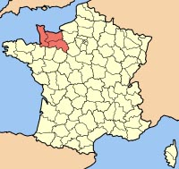 Wikipedia map of the Basse- normandy region of France