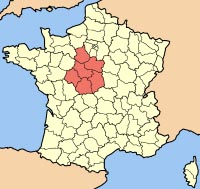 Map of Centre Region of France