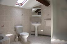 En-suite bathroom to bedroom 1 @ le Cedre, Vendee. France
