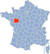 Departments of france with the Main et Loire highlighted