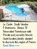 French gite holidays for rental holiday properties